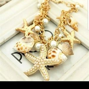 Beautiful Star Fish , Sea Shell Bracelet